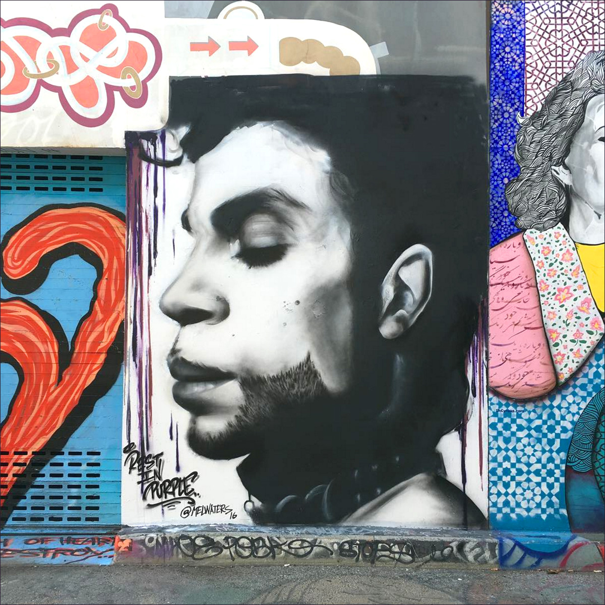 New prince mural by mel c waters on clarion alley for Clarion alley mural project