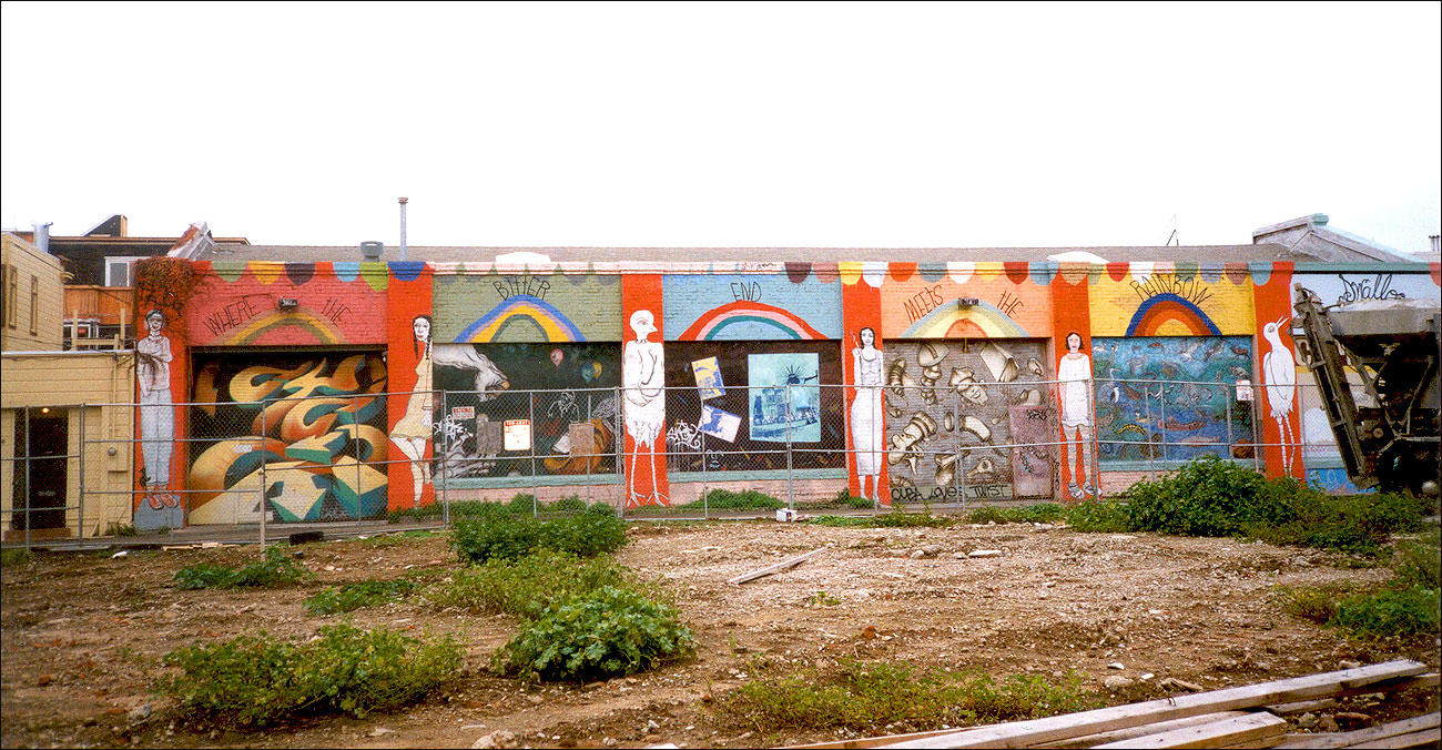 CAMP 2001, view from 17th Street before large condo development went up at corner of 17th & Valencia