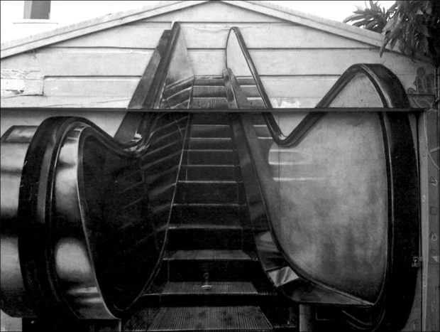 """""""Escalator"""" by Julie Murray, Clarion Alley, 1993"""