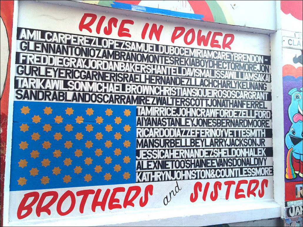 """José V. Guerra Awe, """"Rise In Power,"""" Clarion Alley, 2016"""