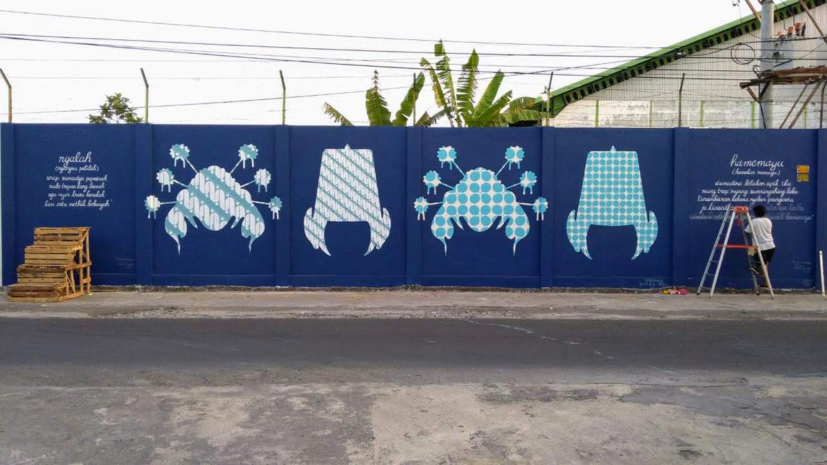 Bangkit Arise Kelly Ording Mural Desa Panggungharjo Clarion